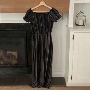 Semi off the shoulder jumpsuit